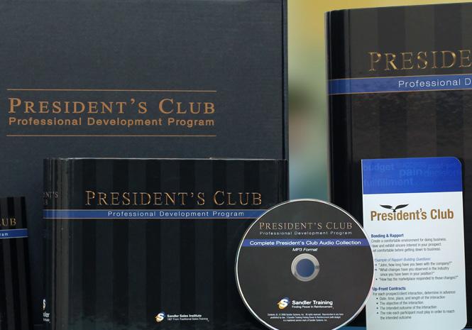Sandler Training President's Club - Print & Packaging Design by Visual Impact Group