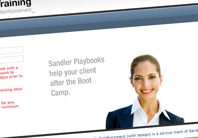 Web Application for Sandler Training by Visual Impact Group