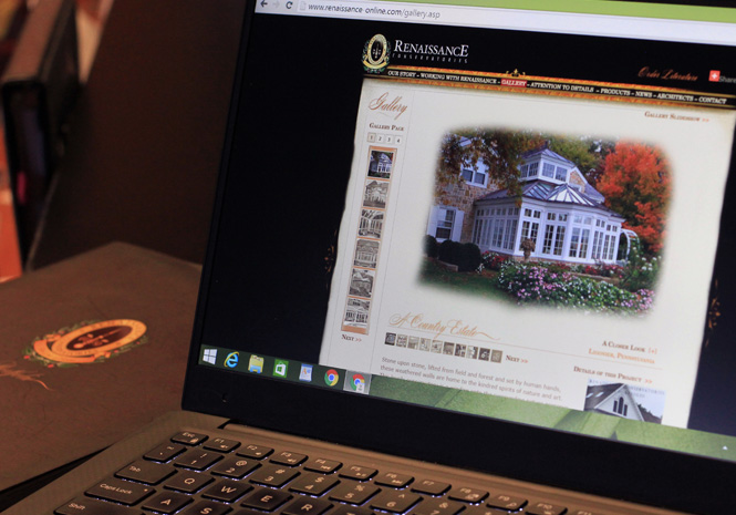 Renaissance Conservatories Website & Portfolio - Website Design & Print Collateral by Visual Impact Group