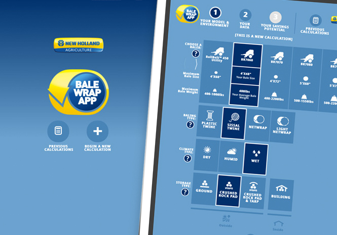 New Holland Bale Wrap Mobile App - Mobile Application by Visual Impact Group