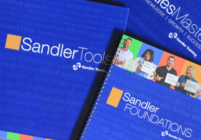 Sales & Training Literature for Sandler Training by Visual Impact Group