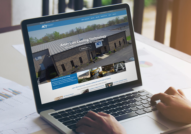 Website Design for American Cooling Technology by Visual Impact Group